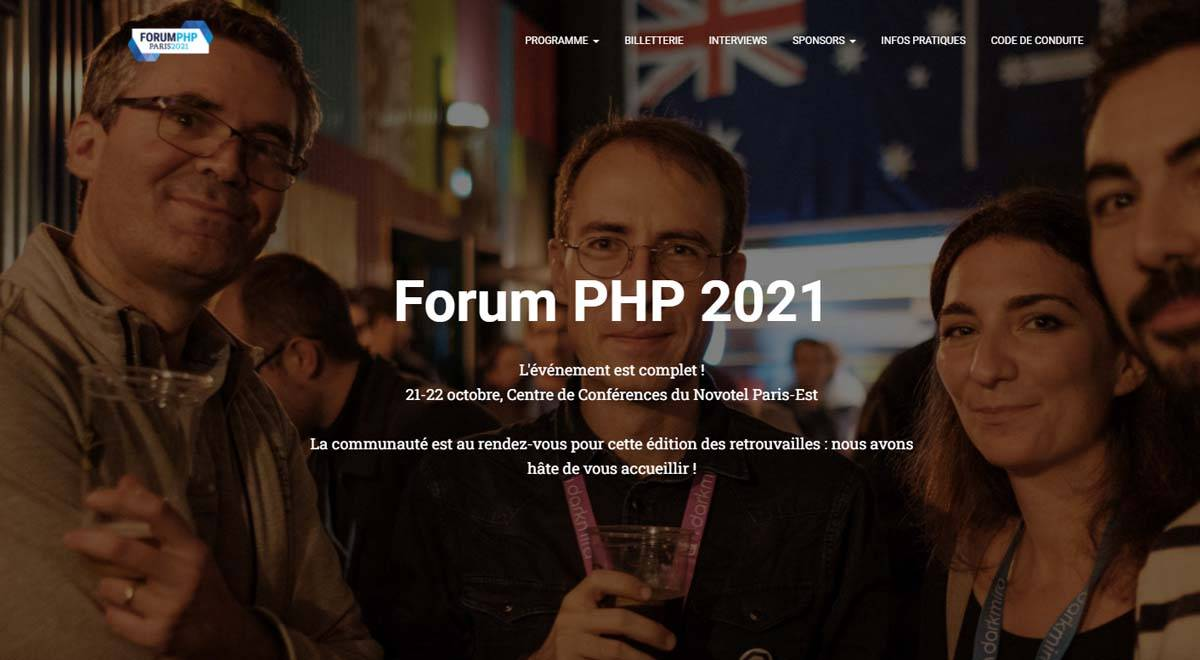 Le Forum PHP2021 : dans quelques jours !